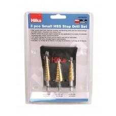 HILKA 3 PCE SMALL HSS STEP DRILL
