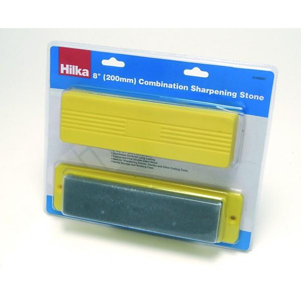 """HILKA 8"""" SHARPENING STONE RED BOX"""