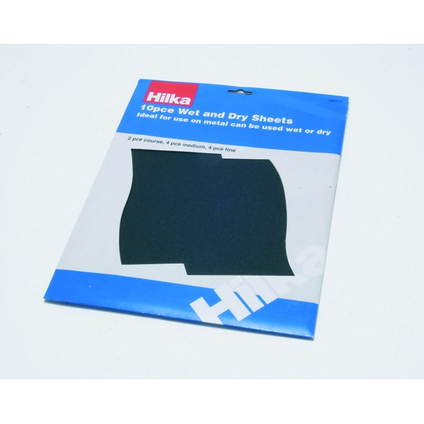 HILKA 10 PCE WET & DRY SHEETS