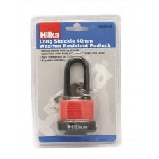 HILKA 40MM LONG SHACKLE WEATHER RESIST PADLOCK