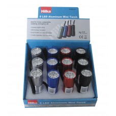 HILKA 1W 60 LUMENS ALUM. MINI TORCH (12PC DISPLAY)