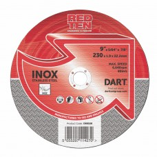 RED TEN SS/INOX 230 X1.9X22.2 MM ABRASIVE DISC