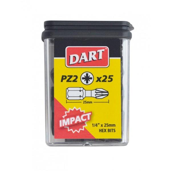 DART 10 X  PZ2 IMPACT DRIVER BIT DISPLAY  (30)