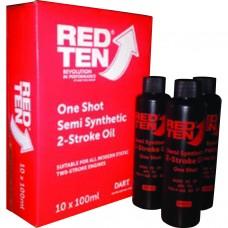 DART RED TEN 2 STROKE OIL 100ML (10)