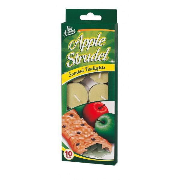 TEALIGHT CANDLE 10PC APPLE STRUDEL