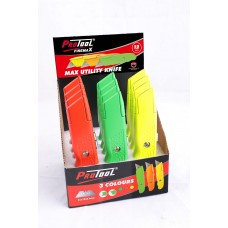 PROTOOL UTILITY KNIFE HI VIS DISPLAY (12)