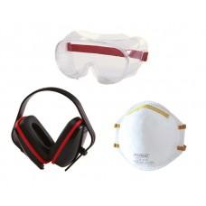 PROTOOL SAFETY SET MASK  / GOGGLE / EAR DEFENDER (6)