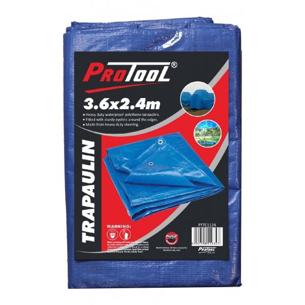 PROTOOL TARPAULIN 3.6M x 2.4M H-DUTY