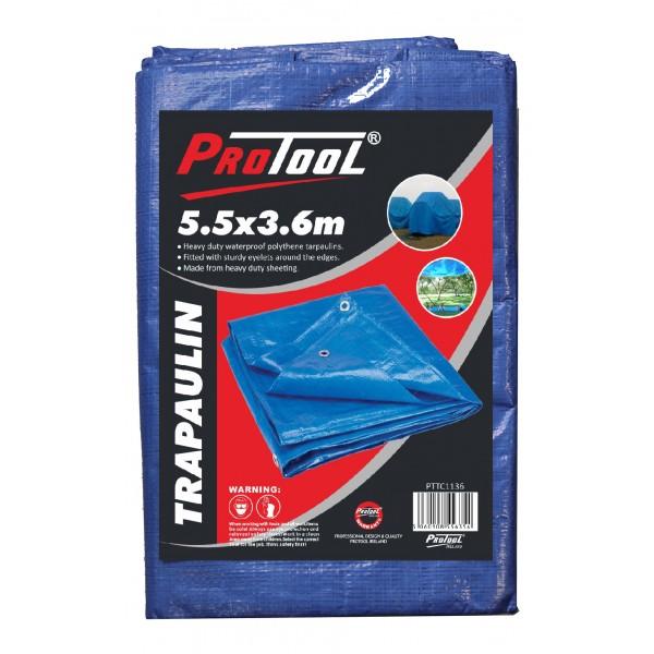 PROTOOL TARPAULIN 5.5M x 3.6M H-DUTY