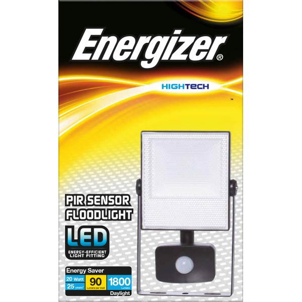 ENERGIZER 20W LED FLOODLIGHT cw PIR