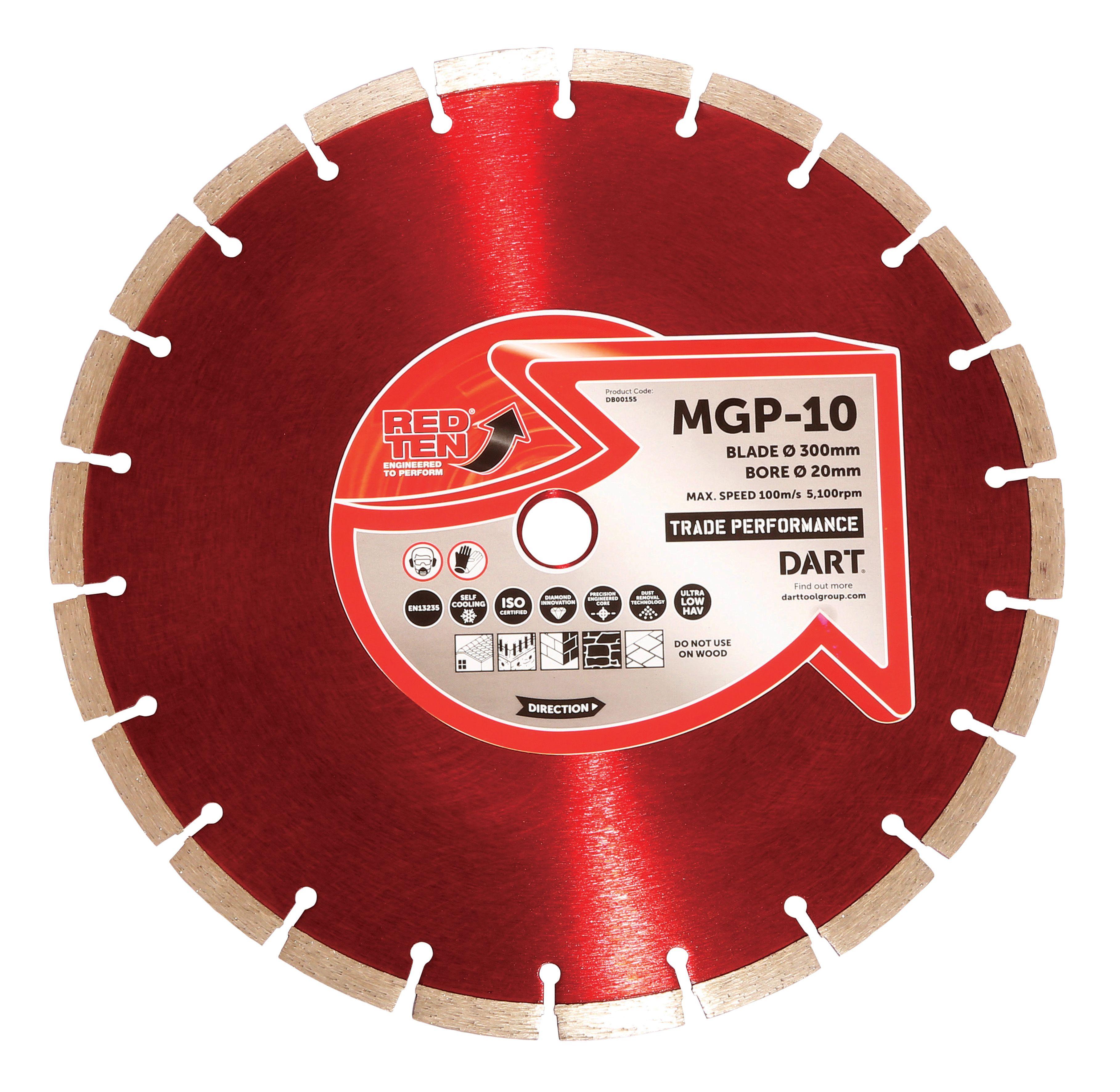 DART RED TEN MGP 10 DIAMOND BLADE 300D x 20B